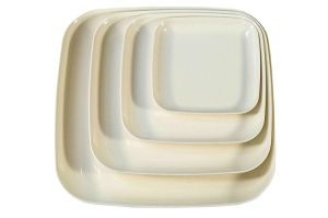 Eco Friendly Bamboo Square Dinner & Serving Plates Dinnerware pictures & photos