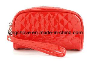 Fashion Red Shiny PU Stitching Cosmetic Bag / Fashion Bag (KCC78) pictures & photos