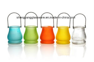 Portable Glass Candle Jar/ Colors Jar pictures & photos