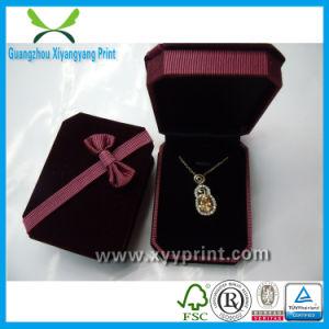 Customl Uxury Cardboard Velvet Jewelry Packaging Box pictures & photos