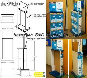 Sound Recorder Cardboard Display Stand, Paper Counter Stand, Unibody Stand Shelf (B&C-A061) pictures & photos