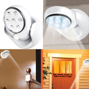 LEDs Cordless Motion Activated Sensor Light Lamp 360 Degree Rotation Wall Lamps White Porch Light for Indoor and Outdorr pictures & photos