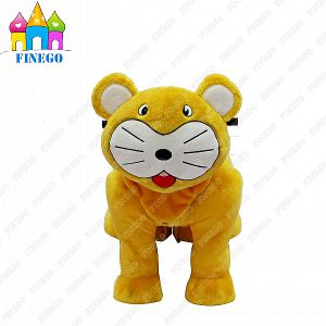 Finego Stuffed Tiger Walking Animal Toy Amusement Family Rides Car pictures & photos