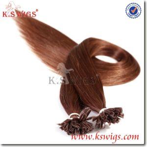 5A Virgin Keratin Human Hair Extension Nail Hair pictures & photos