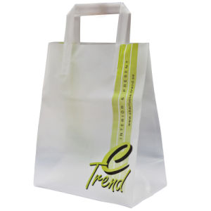 2015 Loop Handle Polybag with Customized Logo and Design, Plastic Shopping Bag, Promotional Bag (HF-508) pictures & photos