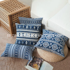 Modern Minimalist Geometric Cotton and Linen Yarn-Dyed Jacquard Cloth Pillow Cover pictures & photos