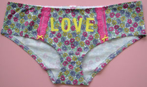 Flower Printed Brief Set in Good Price and Quality pictures & photos