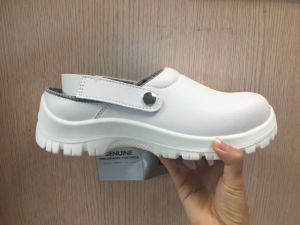 Anti-Skid PU Outsole White Safety Shoes