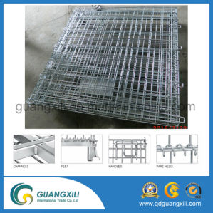 Foldable and Stackable Galvanized Metal Cages pictures & photos
