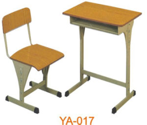Adjustable Plywood School Desk and Chair for Classroom (YA-017) pictures & photos