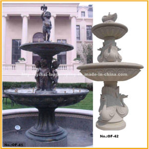 Stone Fountain Carved Marble Water Fountain for Garden Outdoor (YKOF-18)