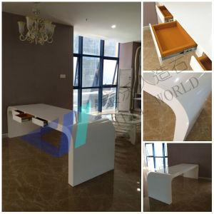 Contemporary Executive Office Table, White Luxury Office Desk pictures & photos