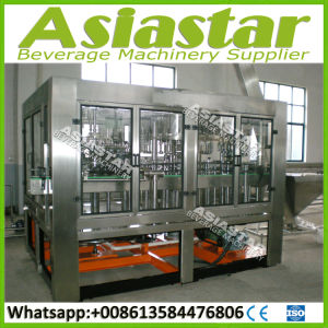 Integrated Automatic Glass Bottle Whisky Alcohol Liquid Filling Machine Line pictures & photos