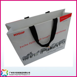 Paper Shopping Bag with Grossgain Ribbon as Handles pictures & photos