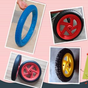 "13""X2.5"", 18""X2.5"", 26""X2.5"" Flat Free Polyurethane Wheel/PU Foam Trolley Wheel pictures & photos"