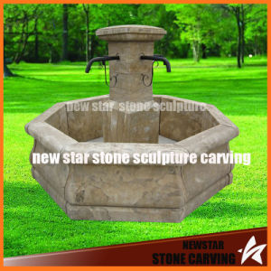 Cheap Small Old-Finished Stone Garden Fountain pictures & photos