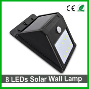 Outdoor Waterproof 8LEDs Solar LED Wall Light PIR Sensor Garden Light pictures & photos