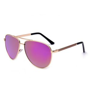 New Brand Name Customized Polarized Classic Mirror Lens Metal Sunglasses (8044)