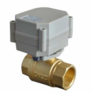 3/4′′ Electric Shut off Water Ball Valve for Water Meter pictures & photos