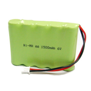 Top Quality Ni-MH Reachargeable Battery Pack 6V 1300 mAh AA pictures & photos