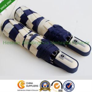 Quality Automatic Folding Umbrellas with Strips (FU-3821ZFA) pictures & photos