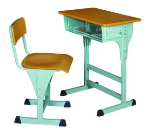 School Furniture Single Table Chairs for Study pictures & photos