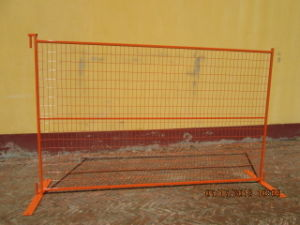 6ftx10FT Ral 2009 Orange Coated Portable Security Canada Temporary Fence for Event pictures & photos