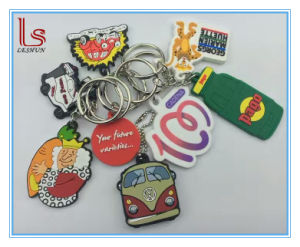 Personalized Silicone Rubber Keychain with Logo pictures & photos