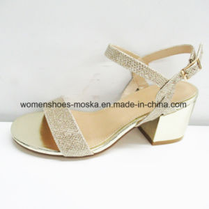 Lady Fashion Women High Heel Chunky Sandals for Office pictures & photos