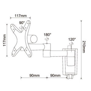 LCD TV Bracket for Flat Panel Tvs up to 27 Inch pictures & photos
