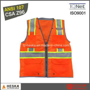 ANSI107 Reflective Tape Workwear High Visibiilty Safety Vest pictures & photos