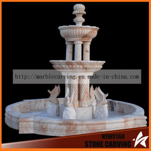 Garden Fountain with Columns Water Feature Sculpture for Home Decoration pictures & photos