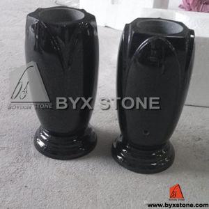 Shanxi Black Granite / Marble Flower Garden Vase / Vases pictures & photos