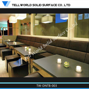 Modern 8 Seater Round Solid Surface Marble Top Corian Restaurant Dining Table and Chairs Set Design Manufacturer pictures & photos