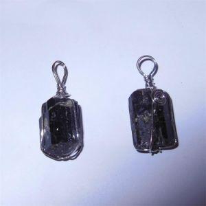 Semi Precious Stone Fashion Crystal Gemstone Bead Black Tourmaline Pendant pictures & photos