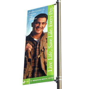 Outdoor Street Light Pole Advertising Sign Flex Media Banner Arm pictures & photos