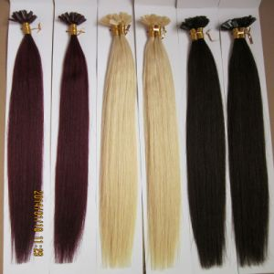 Cold Fusion Flat Tip Human Hair Extension pictures & photos