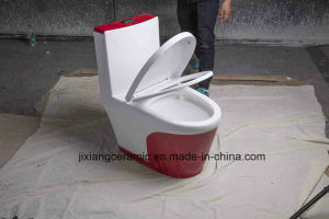 High-End Color Super Siphon Ceramic One-Piece Toilet Wc pictures & photos