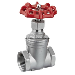 Stainless Steel NPT Gate Valve with Threaded End pictures & photos