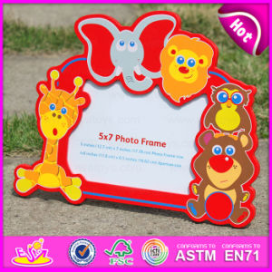 2015 Colorful Kid Wooden Picture Frame, Cheap Wholesale Wooden Picture Frame, Wooden Wall Hanging Decorative Picture Frame W09A039 pictures & photos