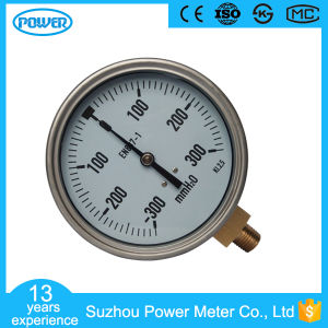 High Technology Vacuum Stainless Steel Bellows Manometer -300mmh2o pictures & photos