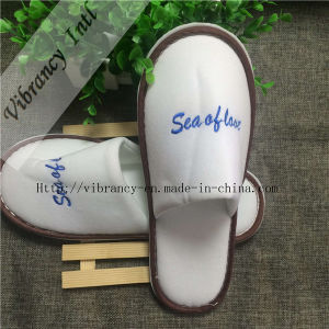Good Quality Hotel Velvet Slippers pictures & photos