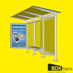 Bus Stop Shelter with Scrolling Sign pictures & photos