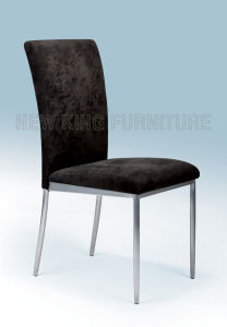 Cheap Paint Steel Foot with Fabric Dining Chair (NK-DC028) pictures & photos
