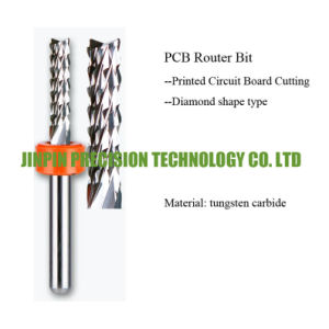 Good Quality Carbide PCB Router Bits, PCB End Mill, Downdraft, Left Cut pictures & photos