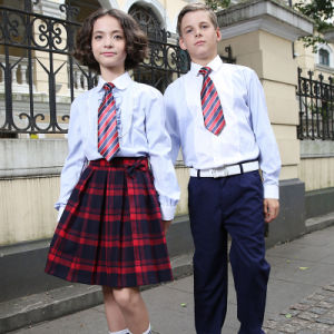 Wholesale White Cotton Shirt for Students School Uniform pictures & photos