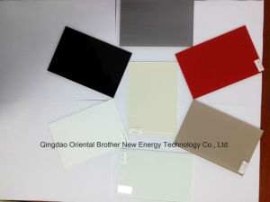 4mm Painted Glass of Ral1013 Light Beige with Safety Film Back pictures & photos
