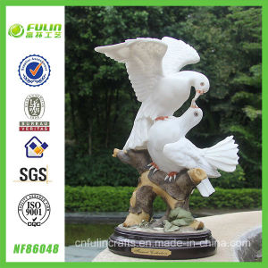 Artificial Resin Pigeons Table Decoration (NF86048)