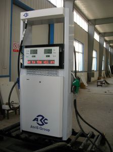 Two Nozzle Two Pump Oil Station Fuel Dispenser with LED pictures & photos