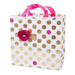 Foil Gold Polka Dots Printing Paper Bag, Paper Gift Bag, Art Paper Bag pictures & photos